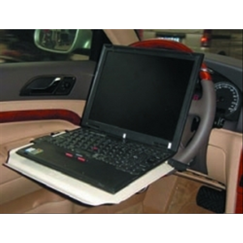 *SUPPORTO PER NOTEBOOK DA AUTO IN ALLUMINIO INCLINABILE