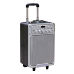 CASSA AMPLIFICATA TIPO TROLLEY C/BLUETOOTH-USB-MICROFONO WIRELESS E  BATTERIA RICARICABILE ISNATCH