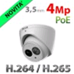TELECAMERA IP EYEBALL RISCO PER ESTERNO INTERNO 4MP WDR H265