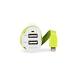 Sweex Caricabatteria per Auto 3-Outputs 6 A 2 x USB / Apple Lightning Bianco/Verde