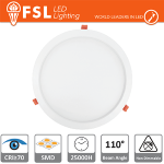 Faretto Incasso  Downlight LED IP20 24W 6500K 2000LM 110° FORO:285mm  Uso Interno